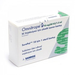 Omnitrope 10 mg (30iu)/1.5 ml